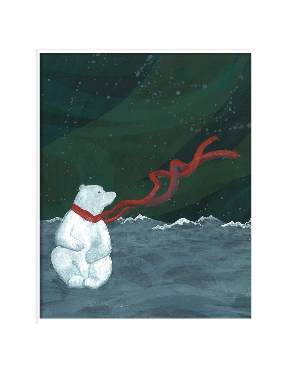 Pensive Polar Bear