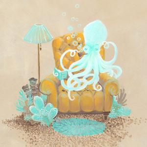 Octopus in Armchair