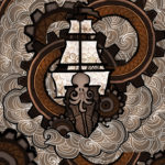 Steampunk Ship 8x10